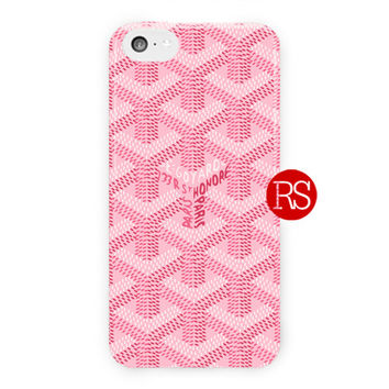 Goyard Pink Logo Pattern For iPhone 5 / 5S / 5C Case