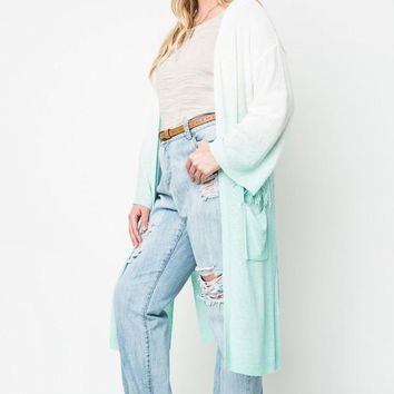Plus Size Bestselling Ombre Cardigan