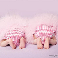 Baby Bloomers Diaper Covers  pink tutu cloud style  by bonbonLand