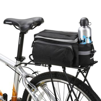 ROSWHEEL Bicycle Carrier Bag 13L Rack Trunk Bike Luggage Back Seat Pannier Outdoor Cycling Storage Handbag Shoulder Strip 14024