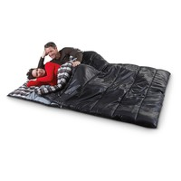 "Ozzie and Harriet 80x66"" Double Sleeping Bag, Black - 591254, Rectangle Bags at Sportsman's Guide"