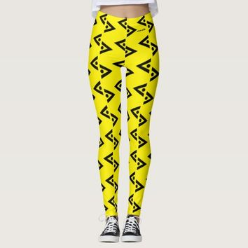 BLACK AND YELLOW LEGGINGS ABSTRACT HAVIC ACD