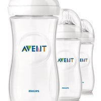 Philips AVENT 11 Ounce BPA Free Natural Polypropylene Bottles 3 Pack