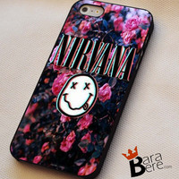 Nirvana flower logo iPhone 4s iphone 5 iphone 5s iphone 6 case, Samsung s3 samsung s4 samsung s5 note 3 note 4 case, iPod 4 5 Case