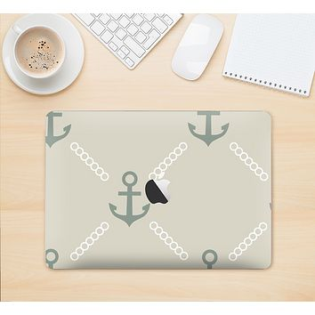 "The Tan Vintage Solid Color Anchor Linked Skin Kit for the 12"" Apple MacBook"