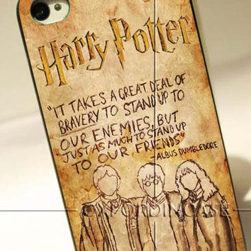 Harry Potter Quote Dumbledore - for iPhone 4/4S case iPhone 5 case Samsung Galaxy S2/S3/S4 case hard case