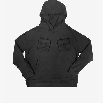 Cargo Pocket Hoodie in Black