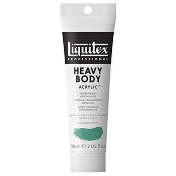Liquitex Professional Heavy Body Acrylic Paint 2-oz tube, Transparent Viridian Hue
