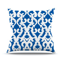 "Aimee St. Hill ""Blue Modern Baroque"" Throw Pillow, 20"" x 20"" - Outlet Item"