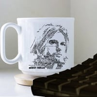 Kurt Cobain Songs Nirvana mug heppy mug coffee, mug tea, size 8,2 x 9,5 cm.