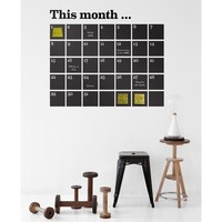 Ferm Living Calendar Chalkboard Wall Decals by Couture Deco