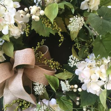 Summer Wreath, Front Door Wreath, Wedding Wreath