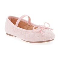 Old Navy Quilted Twill Ballet Flats