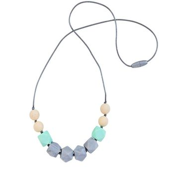 CHEWABLE MOM JEWELRY - CUBE BEAD NECKLACE