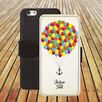 UP colorful ball iphone 5/ 5s iphone 4/ 4s iPhone 6 6 Plus iphone 5C Wallet Case , iPhone 5 Case, Cover, Cases colorful pattern L012