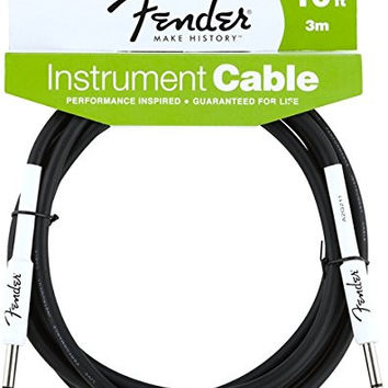 Fender Performance Series Instrument Cables (1/4 Straight-to-Straight) for electric guitar bass guitar electric mandolin pro audio 10'