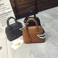Pattern Ladies Animal Shark Small PU One Shoulder Bag