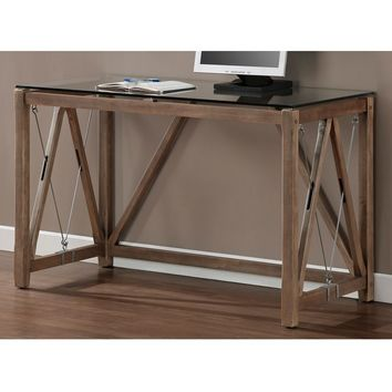 Glass Top Cable Desk | Overstock.com Shopping - The Best Deals on Desks