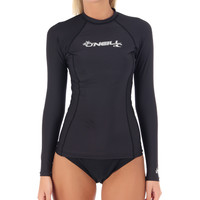 O'Neill Women's Basic Skins L/S Crew Rashguard at SwimOutlet.com - Free Shipping