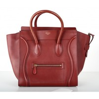 Celine Bourdeaux Mini Luggage Tote Bag