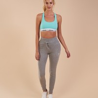 Gymshark High Waisted Joggers - Light Grey Marl