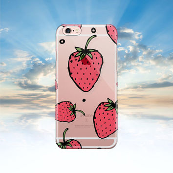 iPhone 6 case Clear iPhone 6S case strawberry Samsung galaxy S6 transparent Samsung galaxy S5 case Note 5 case iphone 5S case LG G4 case