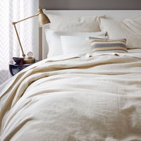 Belgian Linen Duvet Cover + Shams – Natural Flax