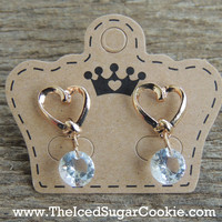 Golden Sweet Heart Earrings