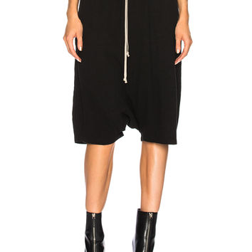DRKSHDW by Rick Owens Pod Short in Black | FWRD