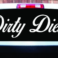 Dabbledown Decals Extra Large Dirty Diesel Car Truck Window Windshield Lettering Decal Sticker Decals Stickers JDM Drift Dub Vw Lowered Jdm Fresh Detailed Stance Fitment 4x4