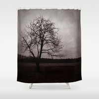 Alone Again, Naturally Shower Curtain by Groovyal