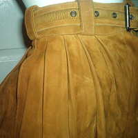 GIANNI VERSACE PANTS Butter Suede Saddle Rider Genie Harem Italy