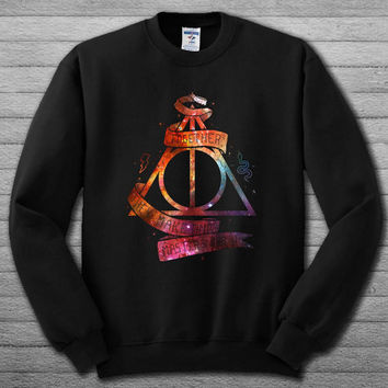 galaxy deadly hollow harry potter Sweatshirt  # For Women , Men  Sweatshirt