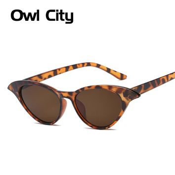 8ee94301a9 Owl City Cat Eye Sunglasses Women 2018 Vintage Luxury Brand Desi