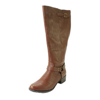 Intaglia Womens Nevada Knee-High Extra Wide Calf Harness Boots