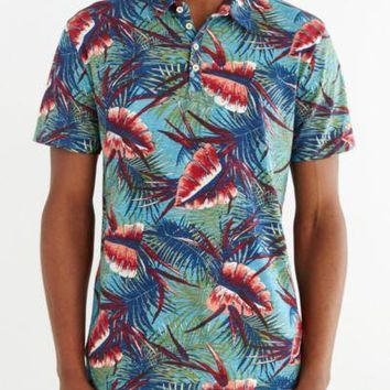 CPO Aston Floral Printed Polo Shirt