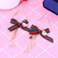 New bow earrings female fashion earrings star pendant