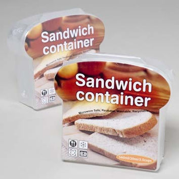 hinged sandwich container Case of 24