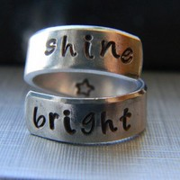 shine bright spiral aluminum ring