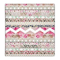 Girly Pink White Floral Abstract Aztec Pattern 3 Ring Binder
