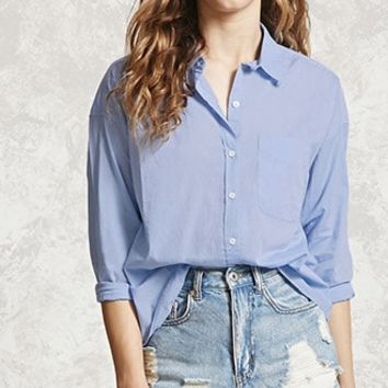 High-Low Collared Shirt