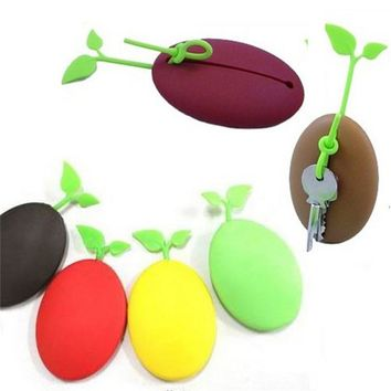 Nice Practical Creative Coffee Beans Wallets Funny Keychain Protect Mobile Phone Avoid Scratching Key Bags