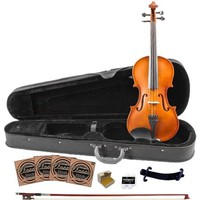 Rise by Sawtooth Full Size Beginner's Violin with Flame Maple Back - Walmart.com