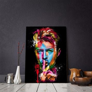 David Bowie Music Colorful Palette Knife Oil Painting