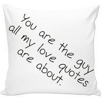 Quote Pillow #7