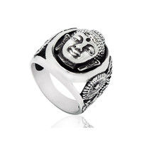 Shiny New Arrival Stylish Gift Vintage Titanium Fashion Accessory Strong Character Jewelry Ring [6542702659]