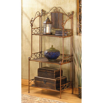 Rustic Bakers Rack Shelf