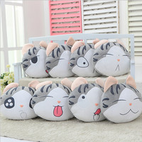 1pcs 37*33cm chi`s sweet home cheese cat pillow of small private sweet cat rice ball stuffed cat pillow cushion for leaning