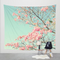 Spring Kissing the Sky Wall Tapestry by RichCaspian