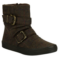 Blowfish Brown Womens Octave Double Buckle Boots